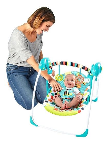 Silla Plegable Portatil Mecedora Automatica Para Bebe Nueva
