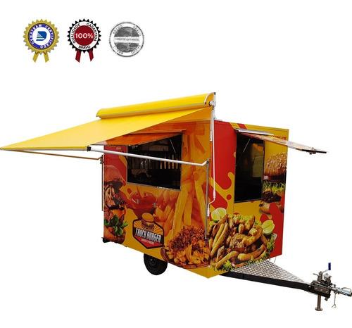 Food Truck Trailer 3x2m C/ Freio - 10x S/ Juros Promoção