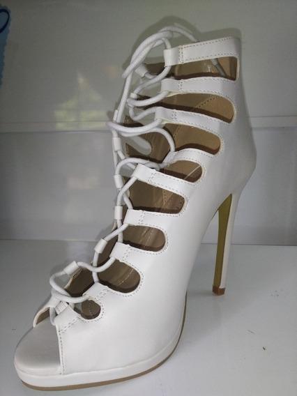 Zapatos De Fiesta Blanco Con Cordón!!! Envío Gratis!!