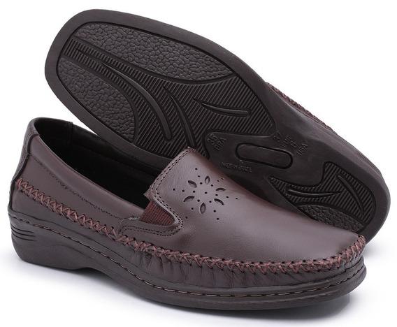 Sapato Sapatilha Feminina Branca Mocassim Anabela Confort