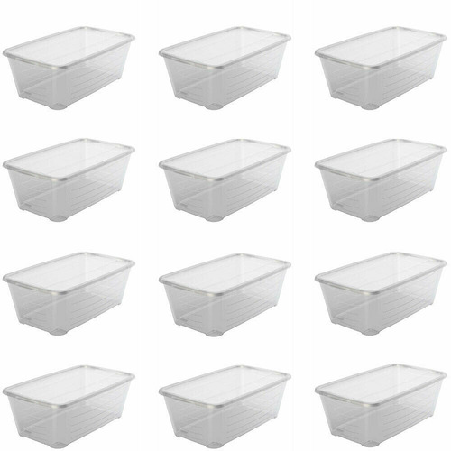 12 Cajas De Plástico Contenedor - Unidad A $8750