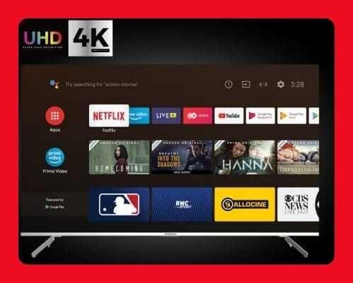 Tv Android 10.0 Indurama 43/32/50/55 4k Smart Soporte Tcl