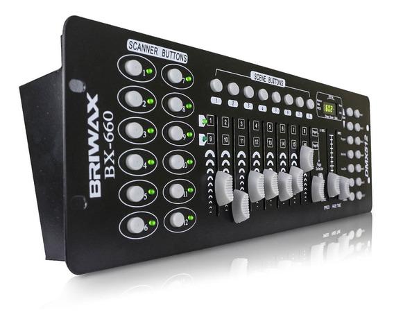 Mesa Controladora Dmx 512 Iluminação Efeitos Dj 192 Canais