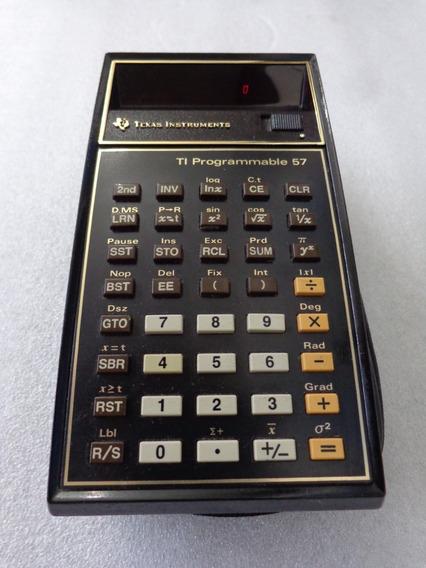 Calculadora Antiga Programavel Texas Ti 57 Gold =nova Hp Ler