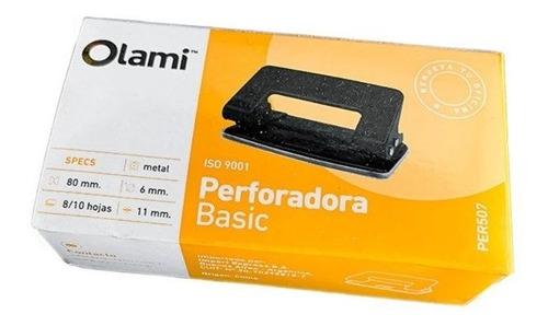 Imagen 1 de 4 de Perforadora Olami Basic De Metal Para 8/10 Hojas