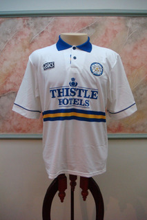 Camisa Futebol Leeds United Inglaterra Antiga Asics 574