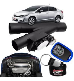 Difusor De Escapamento Esportivo Preto - Honda New Civic