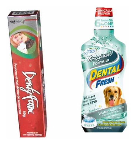 Crema Dental Perros Gatos+ Enjuague Bucal Grande