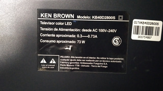 Tv Ken Brown 40 Pantalla Rota
