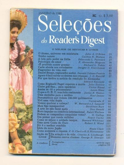 *sll* Revista Seleções Do Readers Digest - Janeiro De 1949