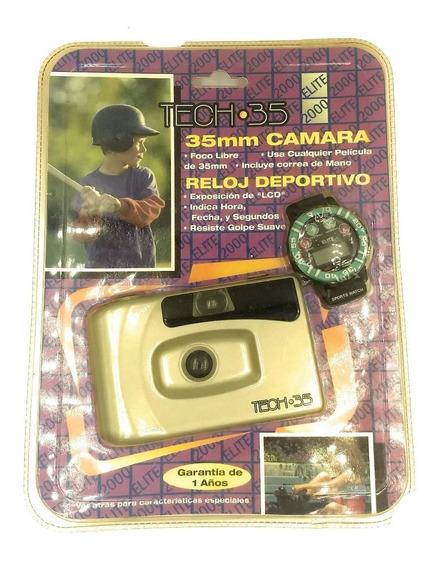 Camara Fotográfica 35mm Con Reloj En Blister Envio Inmediato
