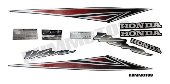 Kit Calcos Honda Wave Nf 100 2013 Moto Negra En Rm Rosario