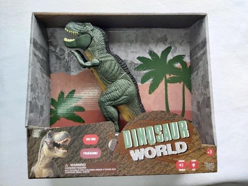 Dinosaur World 35 Cm, Camina, Luz Y Sonidos.