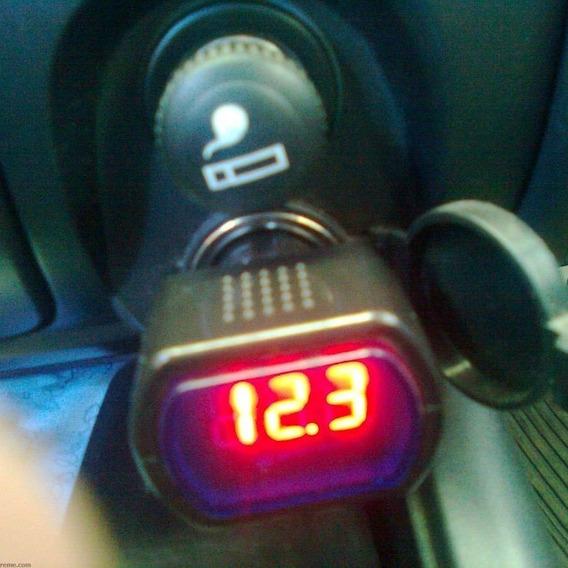 Voltímetro Digital 12v 24v Som Automotivo Bateria Carro Tuni