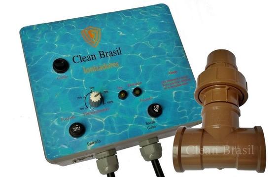 Ionizador Piscina 35.000 L, Clean Brasil, Sem Timer