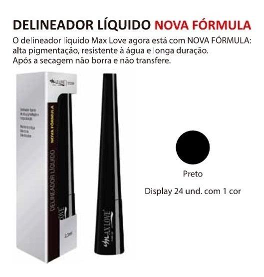 New Delineador Liquido Max Love, Display C/24 Uni +provador