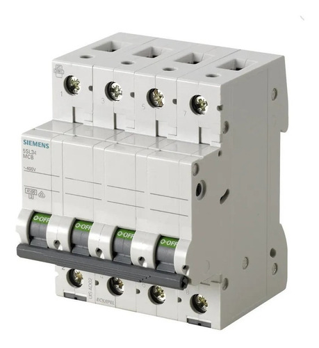 Imagen 1 de 6 de Llave Térmica 4x40 A Tetrapolar 10 Amp Siemens 4.5ka