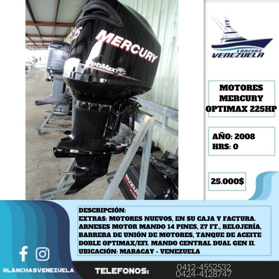 Pareja De Motores Mercury Optimax 225hpn Lv398