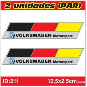 Par De Adesivos Volkswagen Motorsport - Alemanha - Imp211