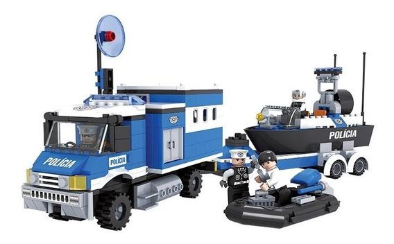 Brinquedo Para Montar - Policiais Em Ação - 491 Peças