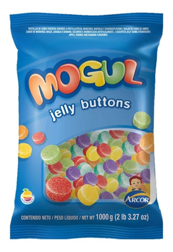Gomitas Mogul Jelly Buttoms X 1 Kg. - Lollipop