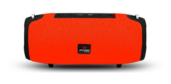 Caixa De Som Bluetooth C/ Alça Aux Fm Usb Tf Grasep D-g125