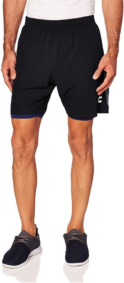 Charly Sports Basic Short Deportivo 2 En 1 Negro Xl
