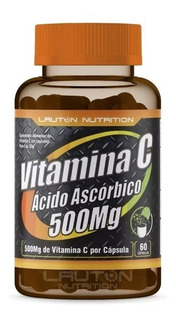Vitamina C 500mg Acido Ascorbico 60 Caps Pronta Entrega