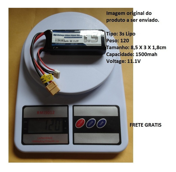 3s 11.1v 1500 Mah 25c Bateria De Lipo Plug Xt60