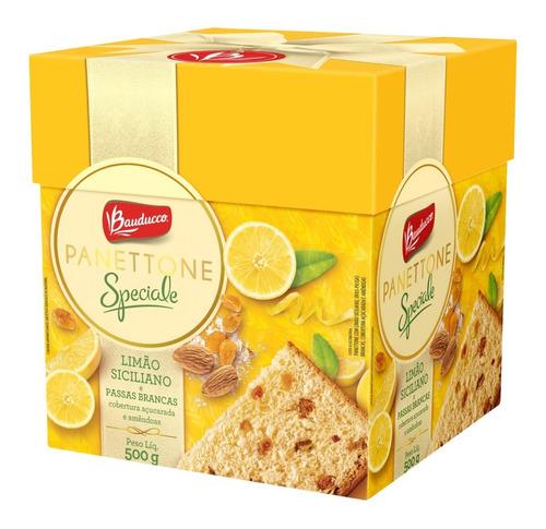 Imagem 1 de 1 de Panettone Bauducco Limão Siciliano E Passas Brancas 500g