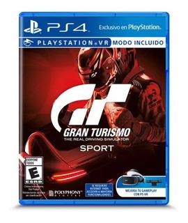 Vendo Juego Gran Turismo Sport Ps4