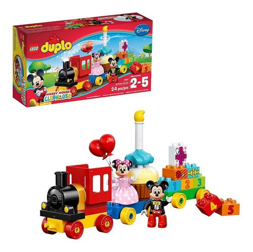 Lego Duplo 10597 Mickey & Minnie Tren De Cumpleaños 24 Pzs