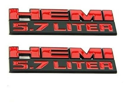Yoaoo® 2x Oem Matt Black 5.7 Litros Hemi Emblems Badge 3d St