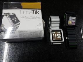 Relógio Apple iPod Nano 6ª Geração + Lunatik Lynk Prata