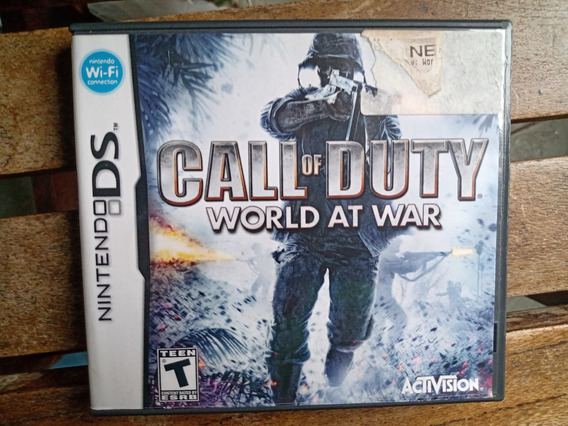 Call Of Duty World At War Nintendods Caixa E Manual Apenas!