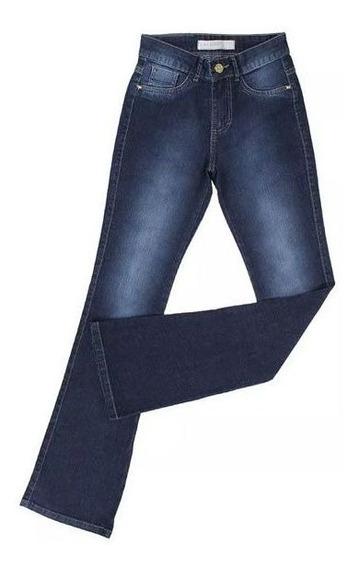 Calça Feminina King Farm Jeans Flare Stone