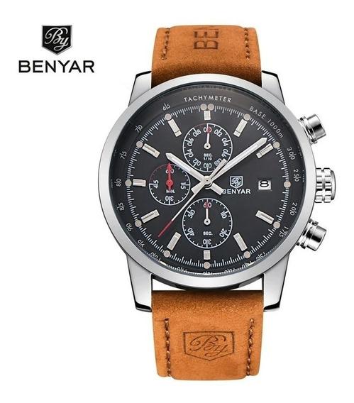 Relógio Benyar Com Cronógrafo Funcional