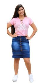 Moda Evangélica Compre 02 Saias Jeans Secretária 100