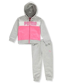 6c97f6e10 Conjunto Moletom Infantil Puma Menina Original Frio Abrigo