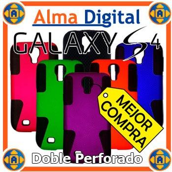 Forro Doble Perforado Samsung S4 I9500 Silicon Plastico Siv