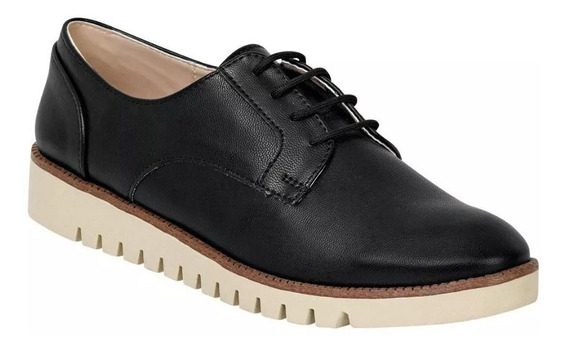 Zapato Escolar Cerrado Caramel Mujer Negro Tipo Napa 602