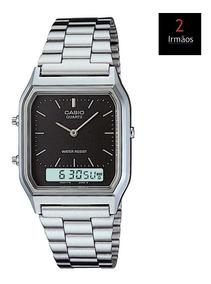 Relógio Casio Prateado Anadigi Aq-230a-1dmq