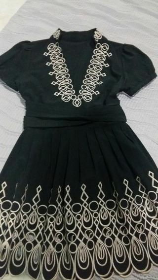 Vestido Stretch Casual Negro Talla S Línea A Ropa Mujer
