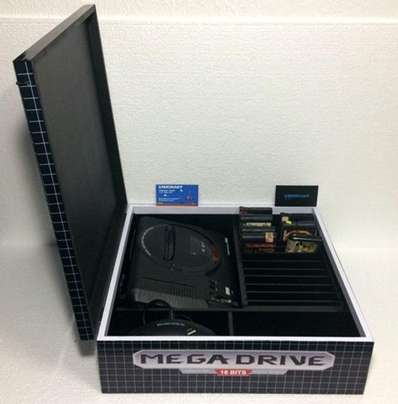 Caixa Com Divisórias Mega Drive 2 Sonic De Madeira Mdf
