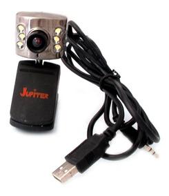 Webcam Jupiter Jp-wb680a Preta Com Leds A2618
