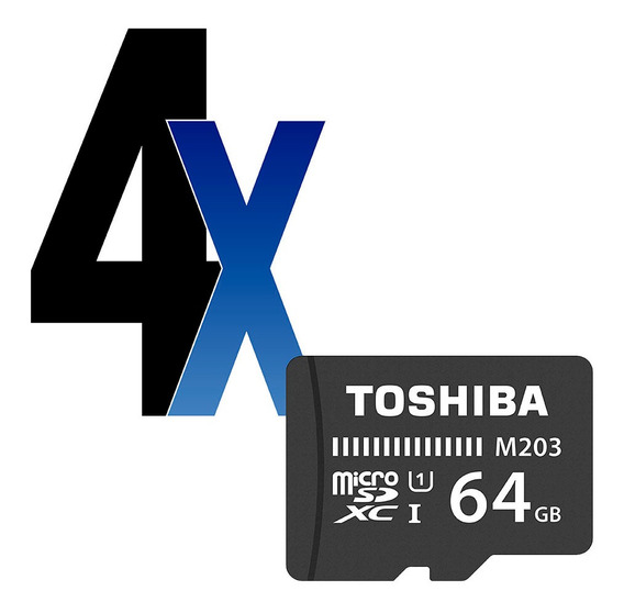 Cartão De Memória 64gb Microsdxc 100mb/s Uhs-i Toshiba 4un