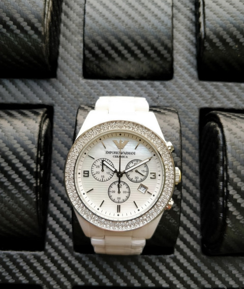 Relógio Empório Armani Ceramica CravejadoQualidade Aaa+