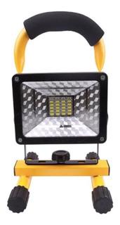 Lampara 30w Reflector Pila Recargable Y Estrobo Patrulla