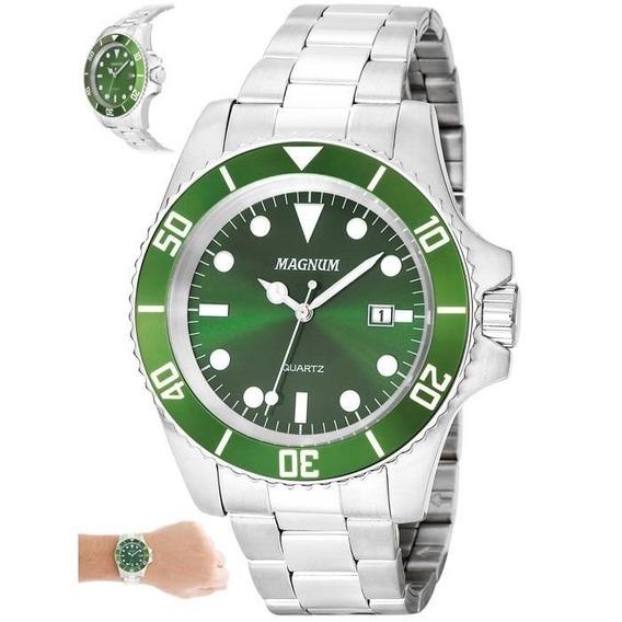 Relógio Magnum Masculino Ref: Ma33068g Casual Prateado