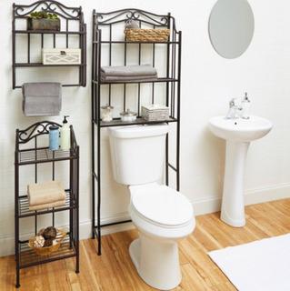 3 Muebles Estantes Para Baño Repisas Bronze Xtrm P